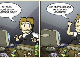 Una vida desperdiciada frente al ordenador