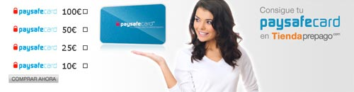 PaySafeCard - Tipos de tarjeta