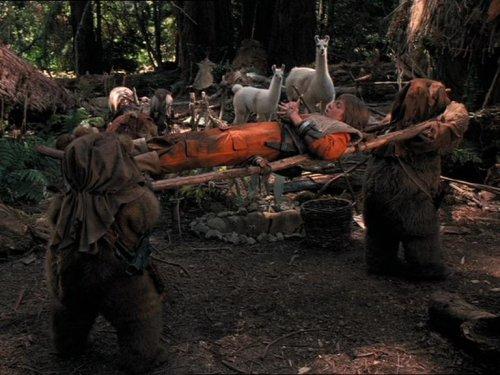 Star Wars - La aventura de los ewoks - Mace capturado