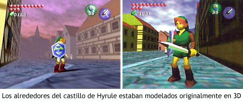 Zelda Ocarina of Time - Alrededores del castillo de Hyrule