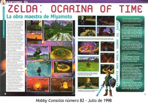 Zelda Ocarina of Time - Hobby Consolas número 82