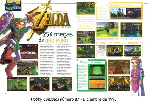Zelda Ocarina of Time - Hobby Consolas número 87