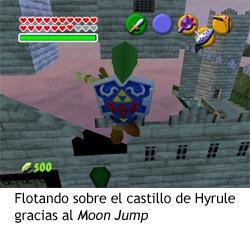 Zelda Ocarina of Time - Moon Jump sobre el castillo de Hyrule