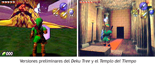 Zelda Ocarina of Time - Deku Tree y Temple of Time en la versión Beta