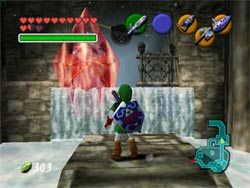 Zelda Ocarina of Time - Zoras Domain congelado