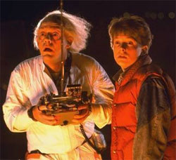 Regreso al Futuro - Doc y Marty asombrados