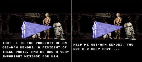 Super Star Wars - Holograma de Leia