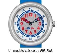 Flik Flak, esfera de un reloj