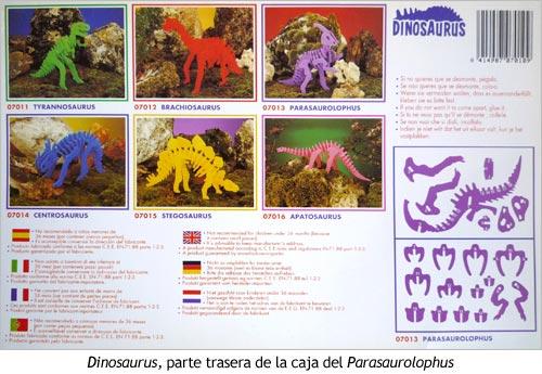 Dinosaurus Gomaespuma - Caja