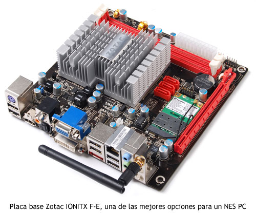 NES PC - Placa base Zotac IONITX F-E