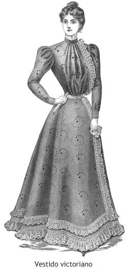 Londres victoriano - Vestido