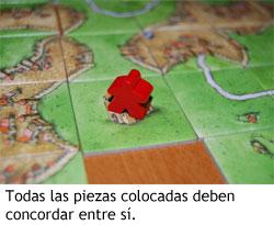 Carcassonne - Colocando piezas