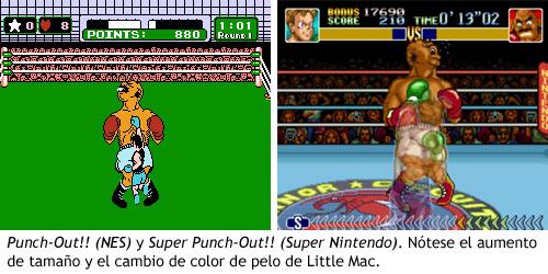 Punch Out - Comparativa de las versiones de NES y Super Nintendo